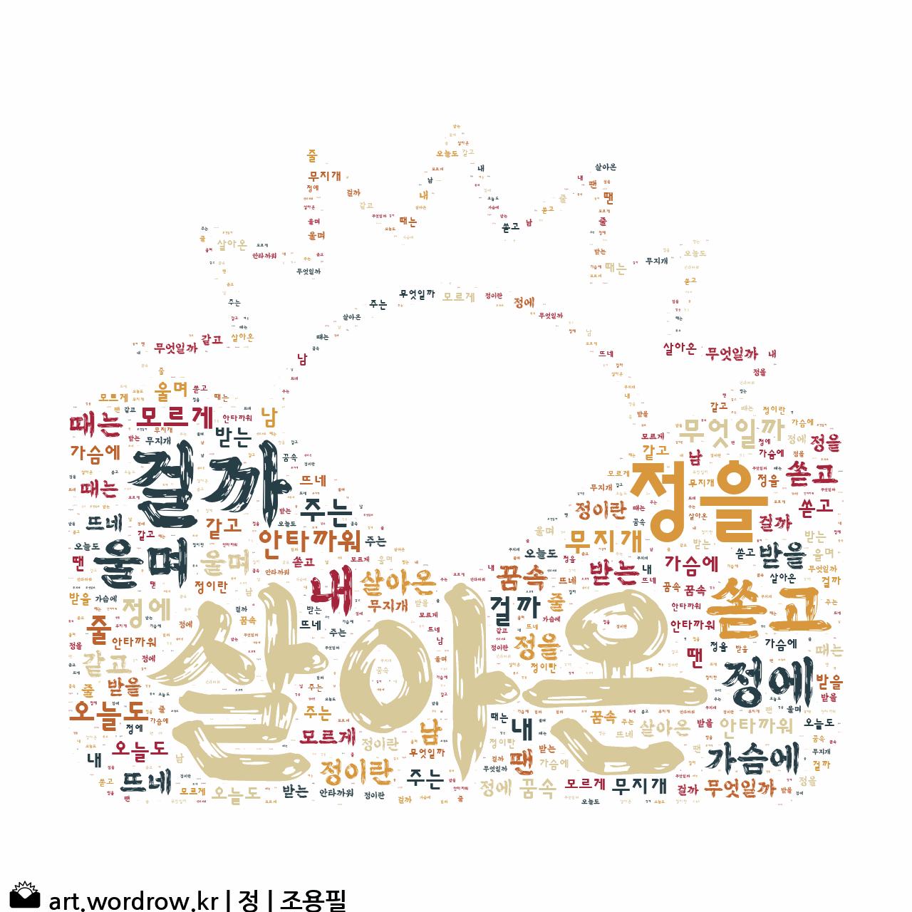 워드 아트: 정 [조용필]-6